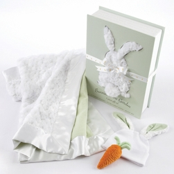 "Bunnies In The Garden"" Luxurious 3-Piece Blanket Gift Set"