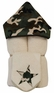 Camo Minky Hooded Towel on Ivory