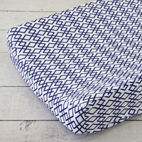 Changing Pad Cover - Aqua and Navy Mod Mix