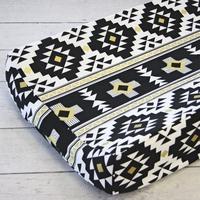 Changing Pad Cover - Black & Gold Aztec