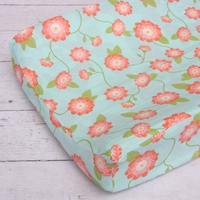 Changing Pad Cover - Coral Floral