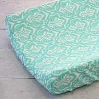 Changing Pad Cover - Delilahs' Aqua Damask