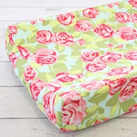 Changing Pad Cover - Funky Rose