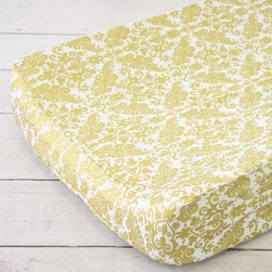 Changing Pad Cover - Gold Damask