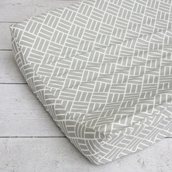 Changing Pad Cover - Gray Basket Weave