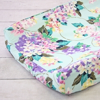 Changing Pad Cover - Holly's Hydrangea