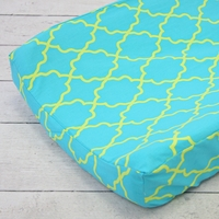 Changing Pad Cover - Kate's Key-Turquoise Changing Pad Cover