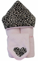 Cheetah Hooded Towel on Pink