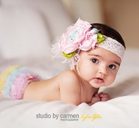 Clouds Obsession Headband - Over The Top Headbands For Girls, Babies and Toddlers