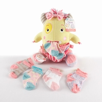 "Clover the Closet Monster"" Knit Baby Socks and Plush Monster Gift Set"