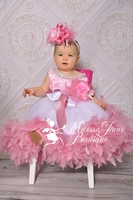Dusty Rose Jeweled Flower Girl Dress