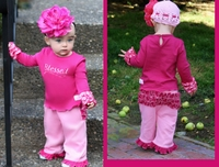 Faith Baby Blessed' Ruffled Top Fushia