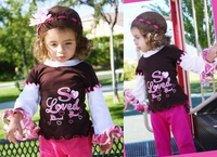 Faith Baby Long Sleeve 'So Loved, So Adored, So Blessed' Ruffled Top