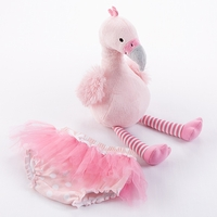 """Fancy Pants"" Plush Flamingo & Bloomer for Baby"
