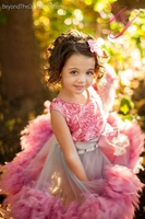 Feather Delight Girls Rosette Dress