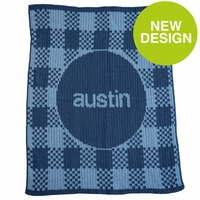 Gingham & Name Baby Blanket- Personalized Baby Blankets