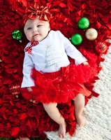 Glitzy Baby Holiday Pettiskirt Set With Headband