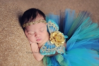 Golden Shimmer Butterfly Set With Golden Headband