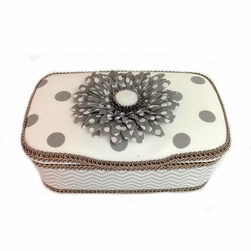 Grey and White Polka Dot Nursery Wipes Case