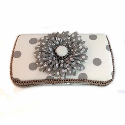 Grey and White Polka Dots Travel Wipes Case-Baby Gifts