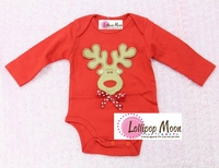 Holiday Reindeer Baby Romper- Holiday Baby Gifts and Clothes For Babies