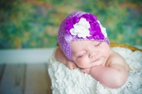 Jamie Rae Lavender Tiny Turbans with White Purple Small Geraniums