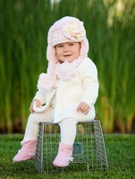 Jamie Rae Pale Pink Winter Wimple Hat