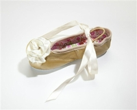 Kamara Designs Gold & Ivory Ballet Slippers