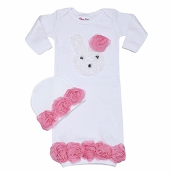 Little Bunny Love Baby Gown Set