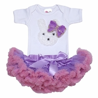 Little Bunny Tutu Lavender Set- Infant Tutu Sets