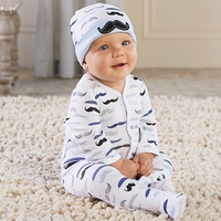 Little Man Pajama Gift Set - Newborn Baby Boy Gift Set