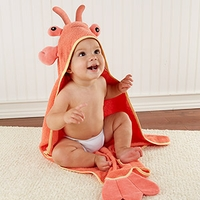 Lobster Laughs Lobster Hooded Towel (0-9 Months)
