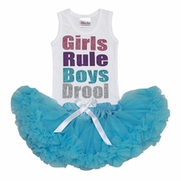 Lollipop Moon Girls Rule Glitter Tutu Set