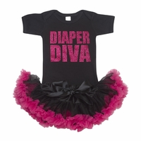Lollipop Moon Glitter Diaper Diva Tutu Set