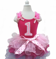 Lollipop Moon Light Hot Pink Lavender Petal Pettiskirt with Bling Number Ages 1-6 Years
