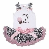 Lollipop Moon Pink Zebra #2 Tutu Set