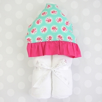 MOLLY'S MINT HOODED TOWEL MAKES A GREAT BABY SHOWER GIFT