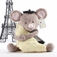 "Monsieur leSqueak and Blankie Fantastique"" Plush Mouse and Blanket Gift Set"