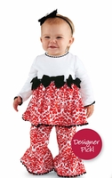 Mud Pie Damask Minky Pant Set