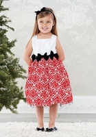 Mud Pie Red Damask Dress