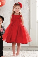 Mud Pie Red Rosette Party Dress