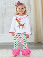 Mud Pie Reindeer Tunic & Legging Set