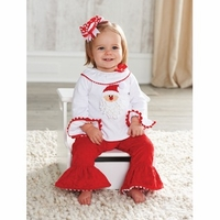 Mud Pie Santa Minky Pant Set