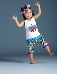 Mud Pie Wild Child Zebra Tunic & Legging Set