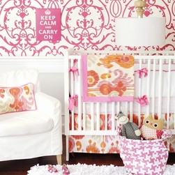 New Arrivals Urban Ikat in Fuchsia Baby Bedding