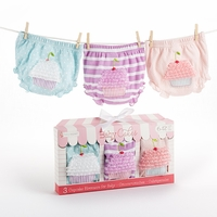 Newborn Baby Gifts�Baby Cakes� Set of Three Cupcake Bloomers