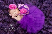 Newborn Baby Purple Butterfly Photo Prop Set
