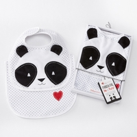 """Panda Pal"" Bib & Burp Set- Baby Shower Gift Ideas"