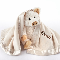"Pig in a Blanket"" Two-Piece Gift Set in Adorable Vintage-Inspired Gift Box"