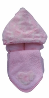 Pink Giraffe Hooded Towel on Pink